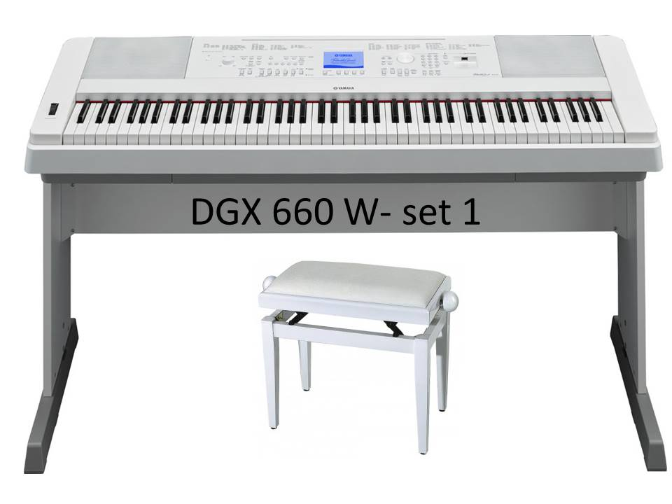 Yamaha DGX-660 White -Set 1
